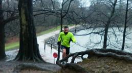 Man running in Roundhay Park