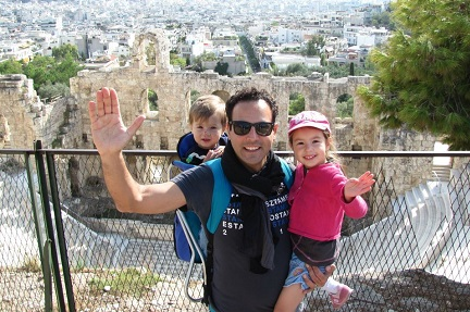 Alim and family in Athens