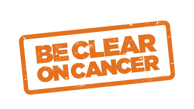 Be Clear on Cancer logo for bowel campaign