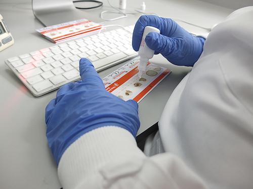 A returned FOBt bowel screening kit