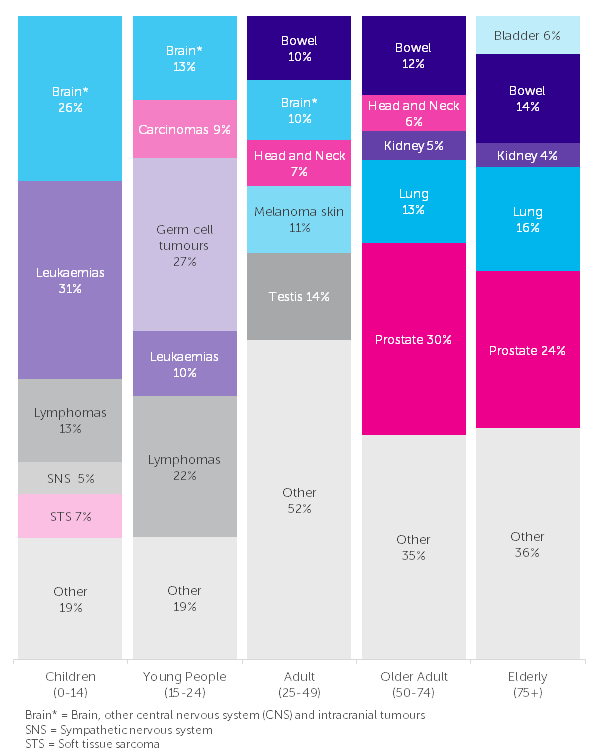 Cancer incidence by age | Cancer Research UK