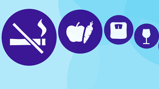 causes of cancer icons