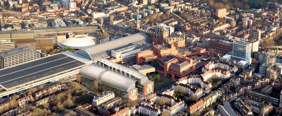 Francis Crick Institute from above