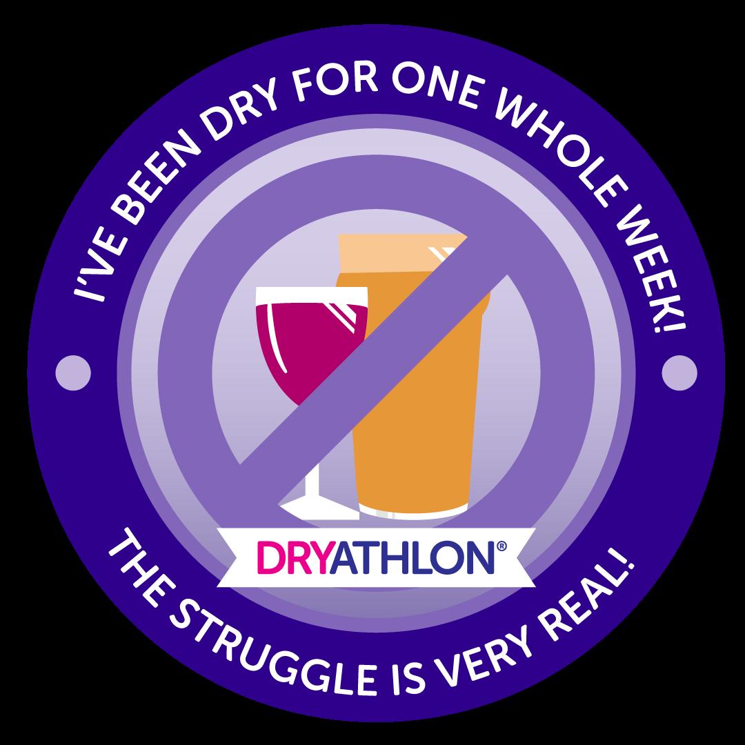 One week dry badge