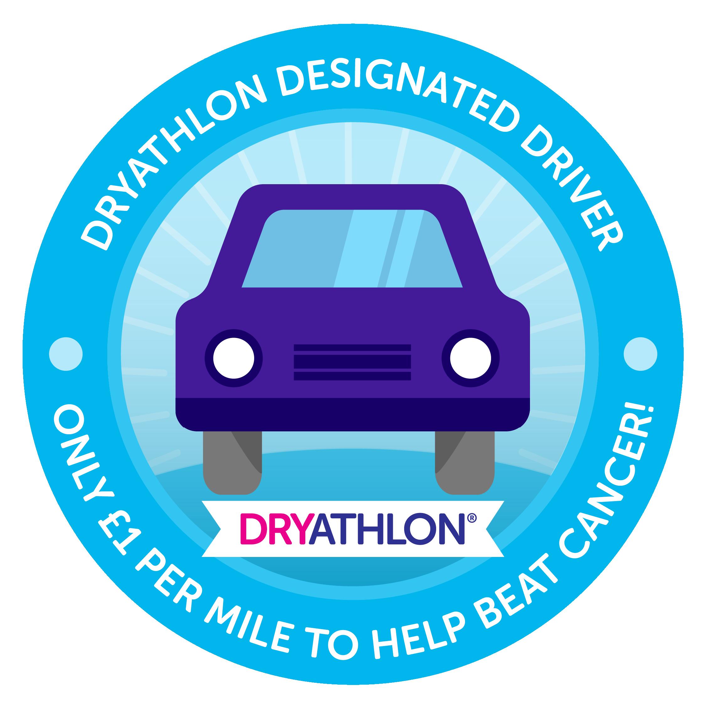 Designated driver dryathlete badge