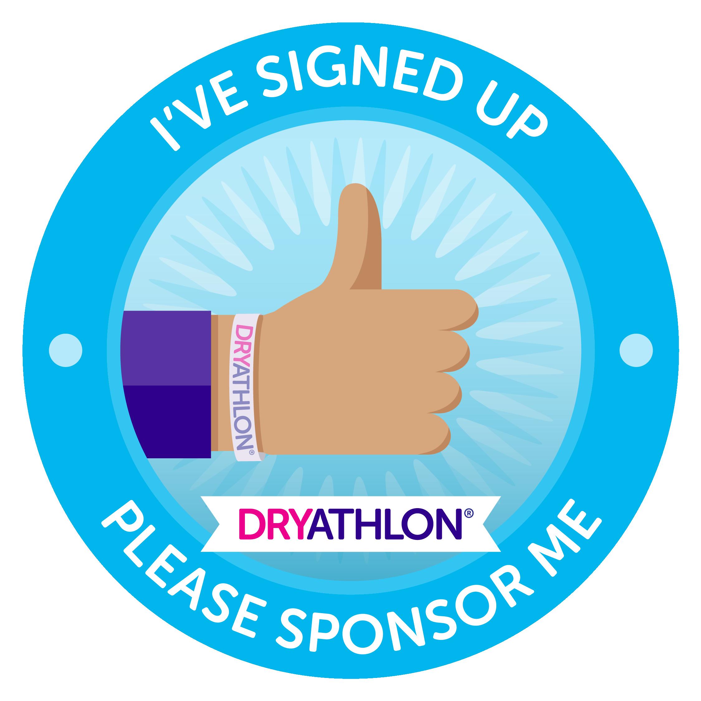 I've signed up Dryathlon badge