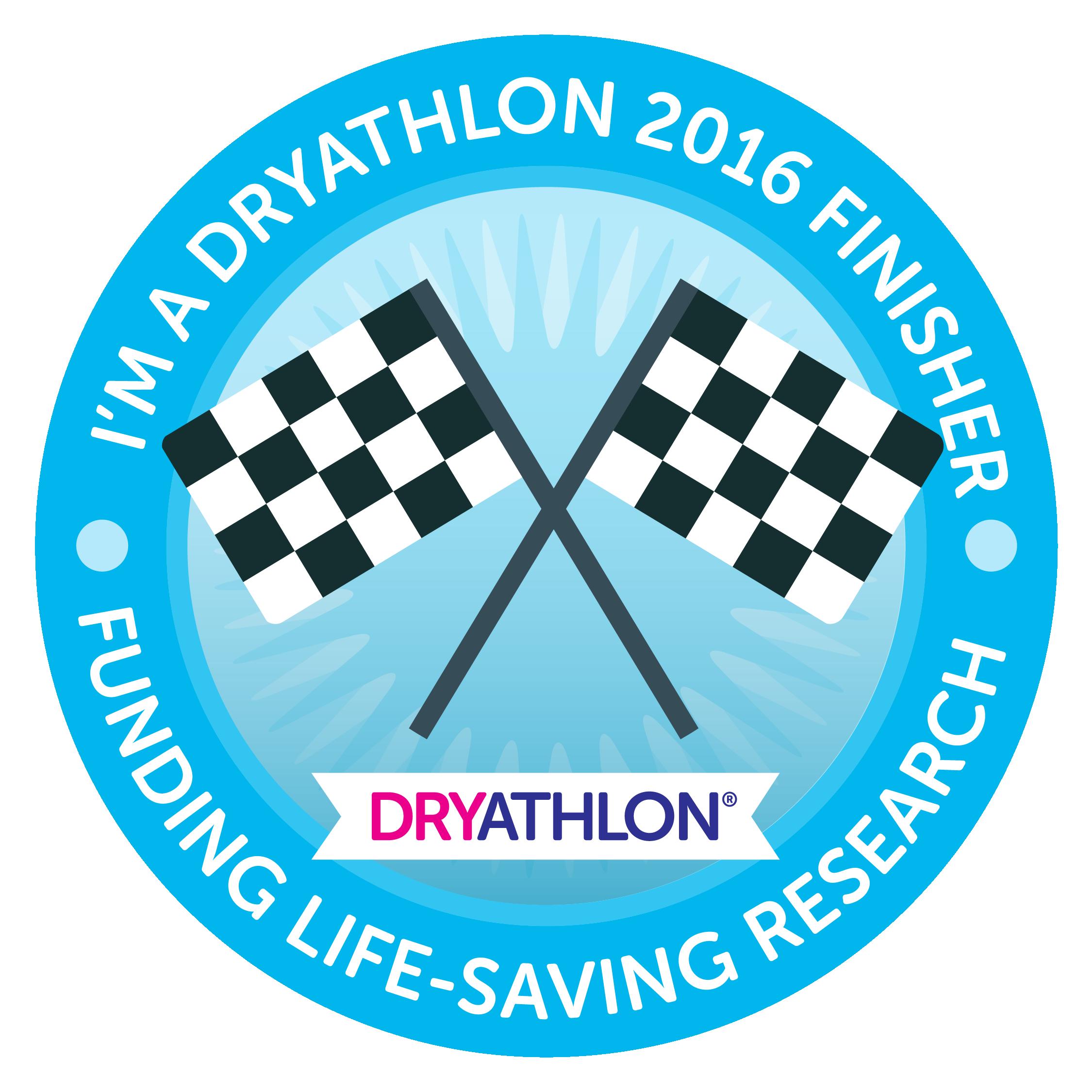 September 2016 finisher badge