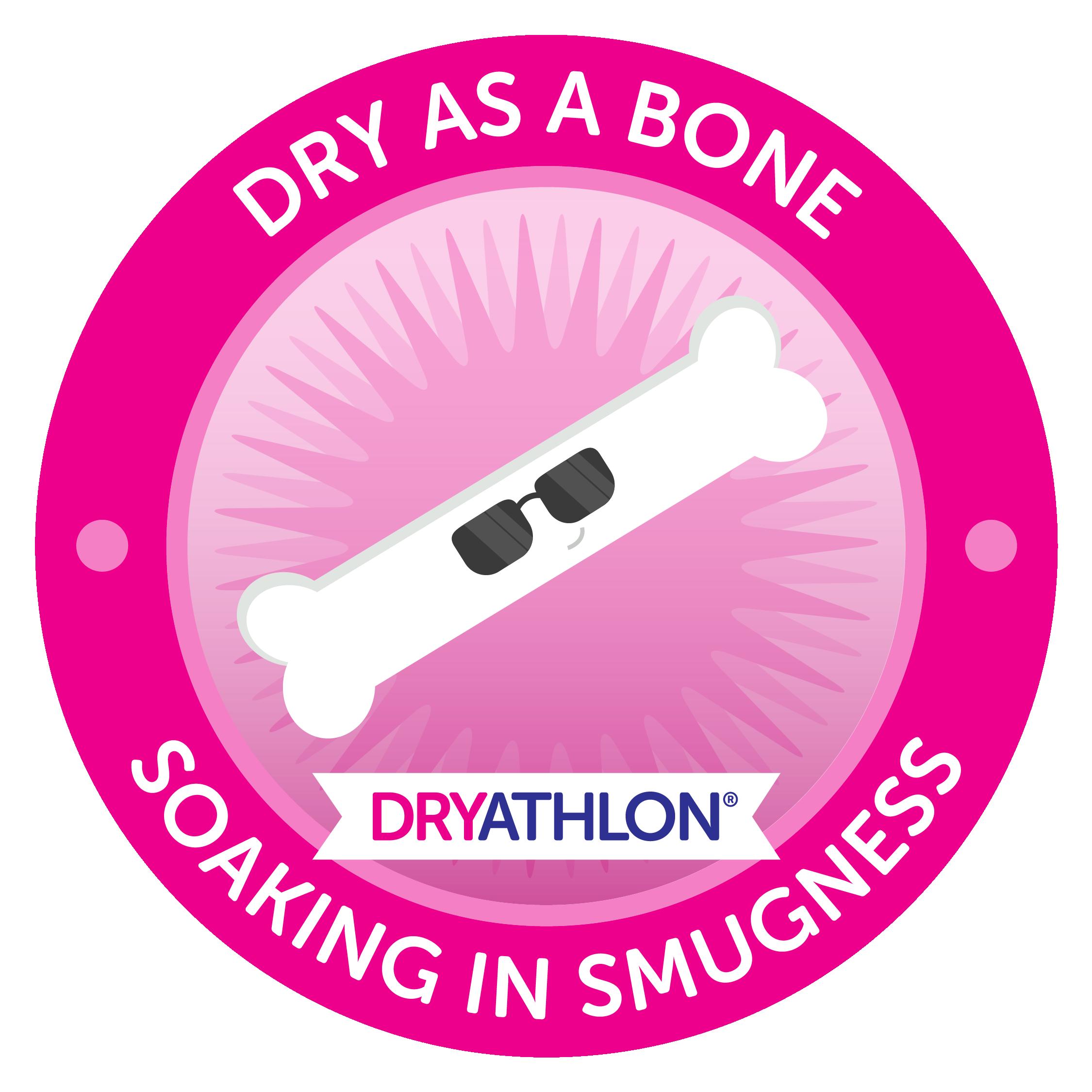Dry as a bone badge