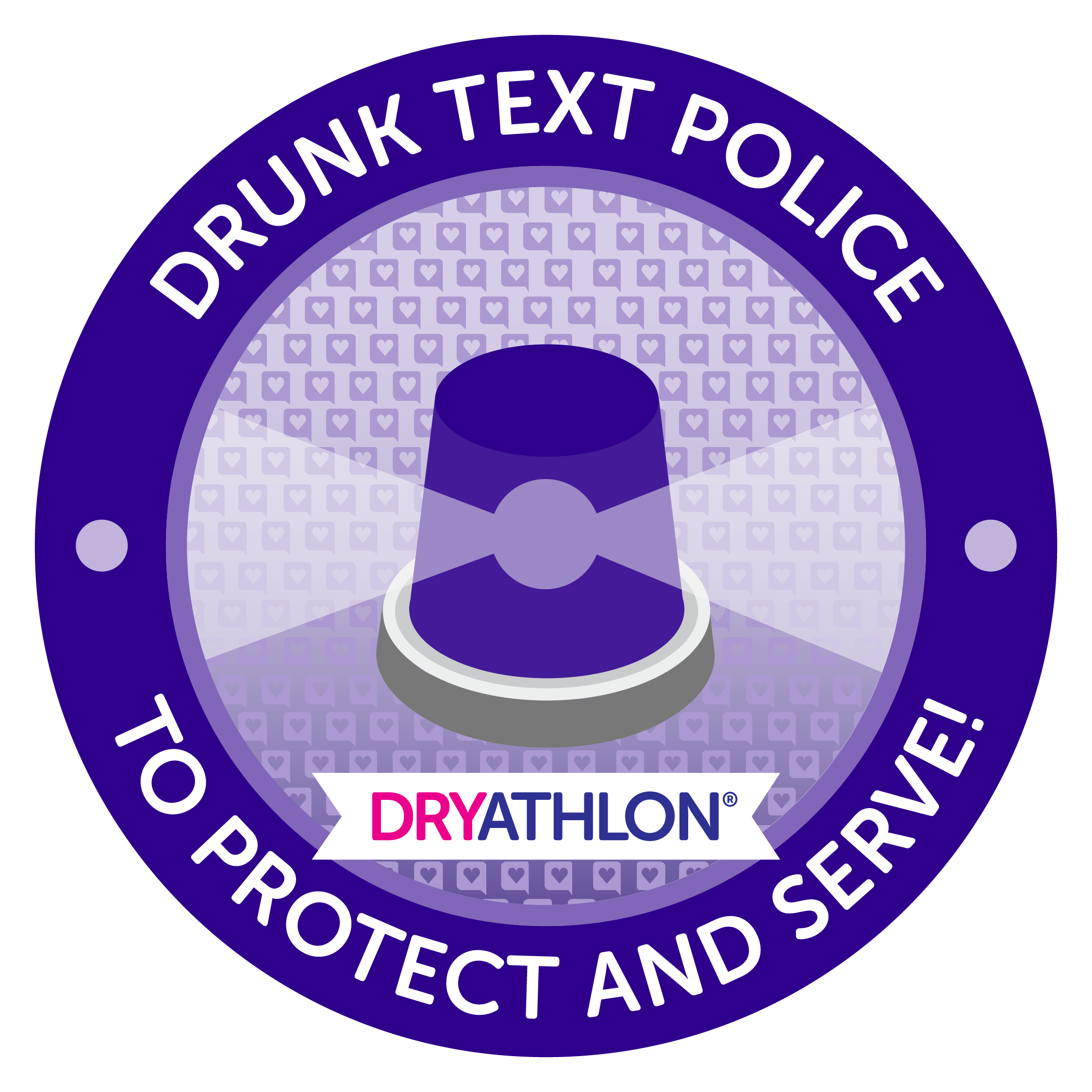 Drunk text police badge