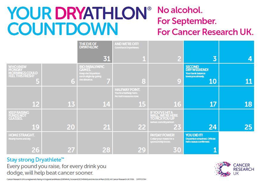 Drythlon September countdown calendar