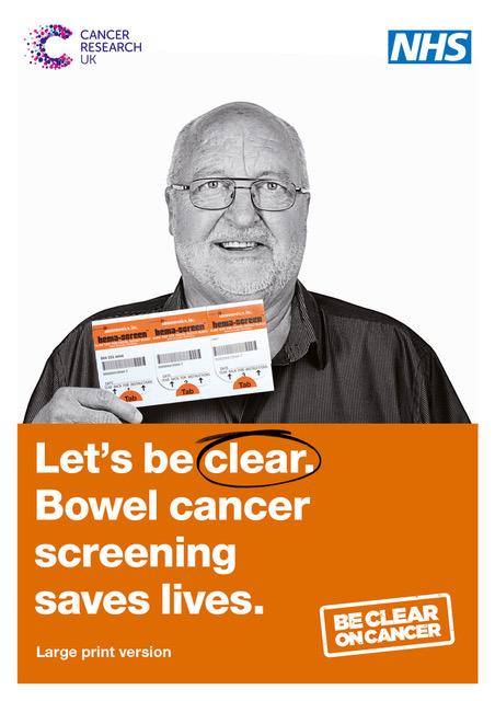 Large print leaflet