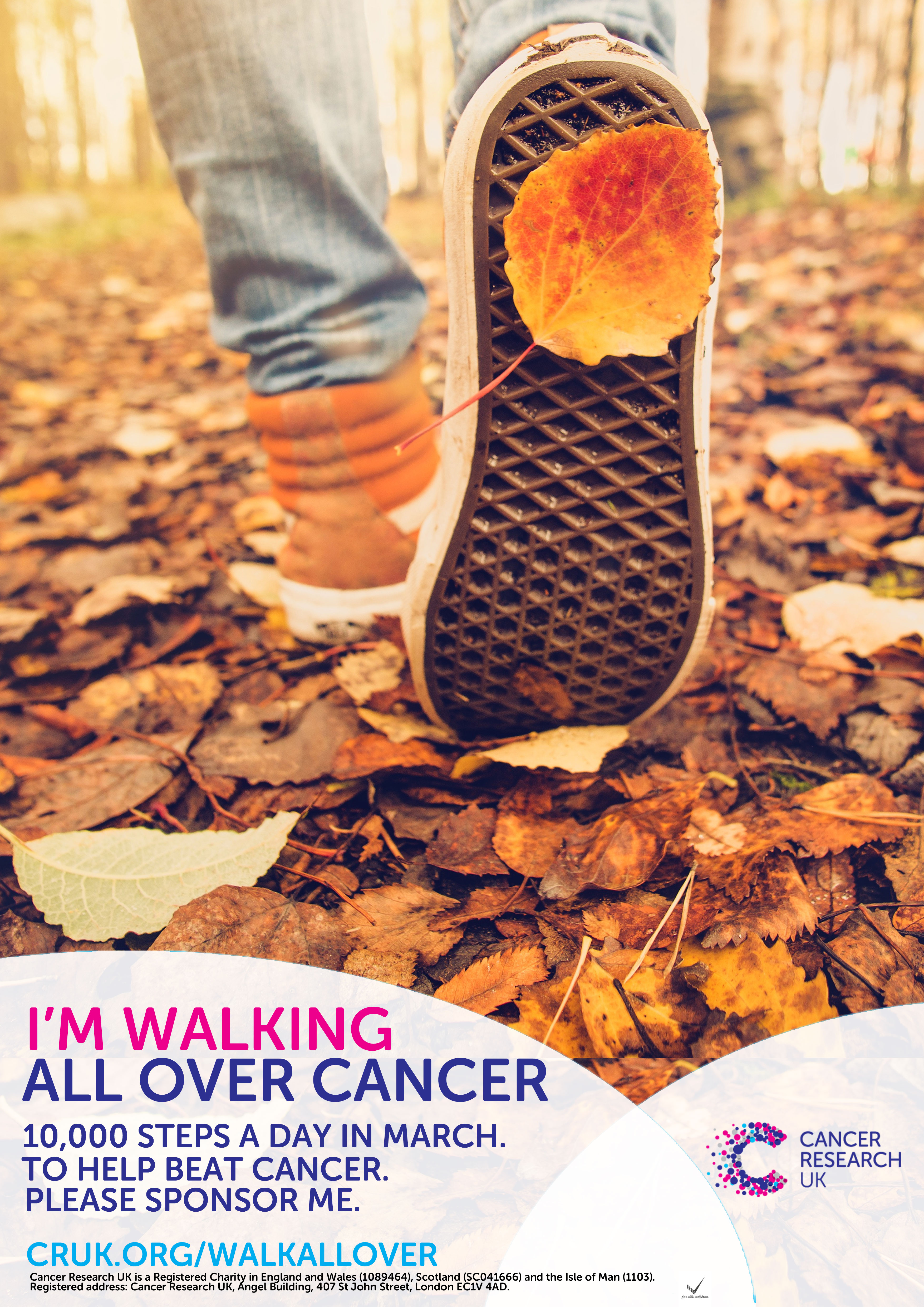walk all over cancer poster