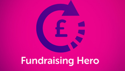 Graphic for fundraising hero