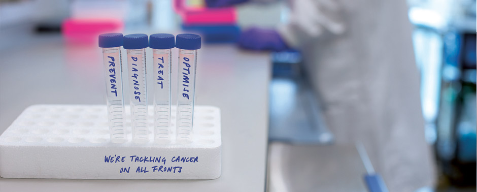 We're tackling cancer on all fronts: Prevent, diagnose, treat, optimise