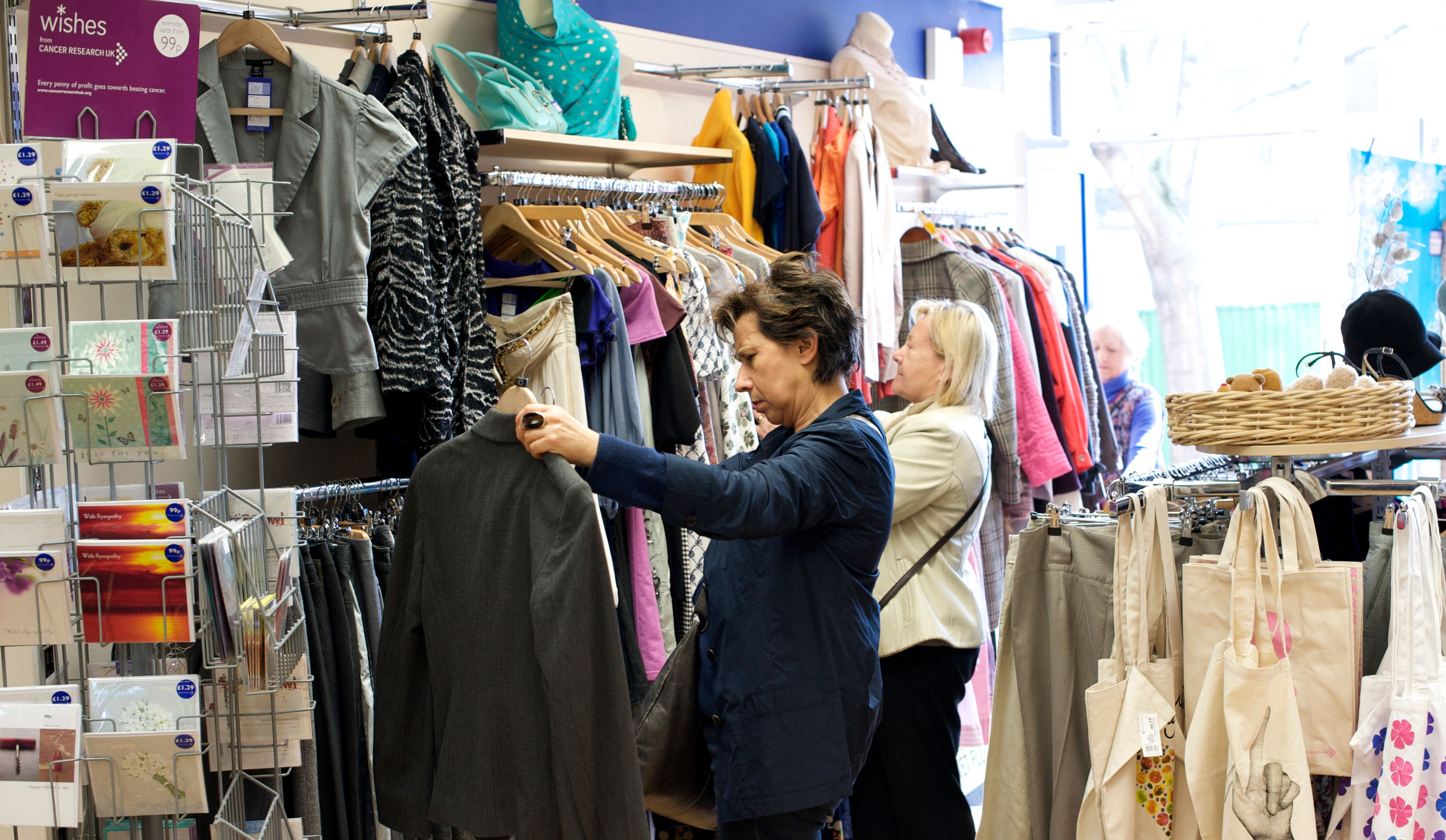 shopping in second hand stores essay Read local papers and speak to other small businesses in the area a specialty retail store located six miles out of town in a free-standing building will need more marketing than a shopping store located in a mall signage.