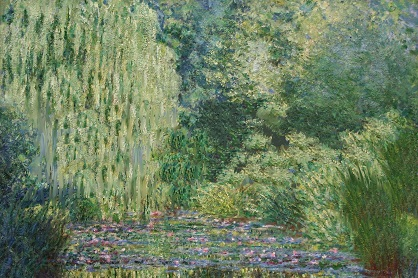 Two thirds of Monet's Lillies