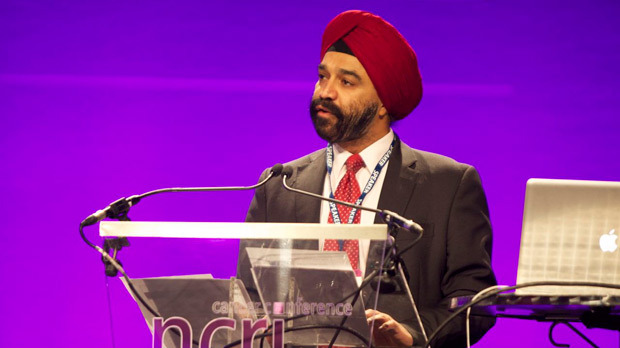 Harpal Kumar speaking at the NCRI