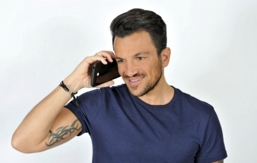 peter andre on phone