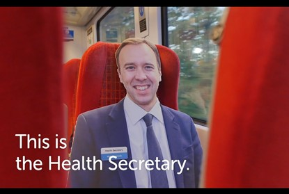 cardboard cut out of health secretary