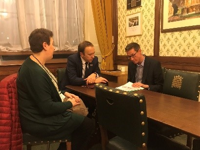 2 Ambassadors meeting with health secretary