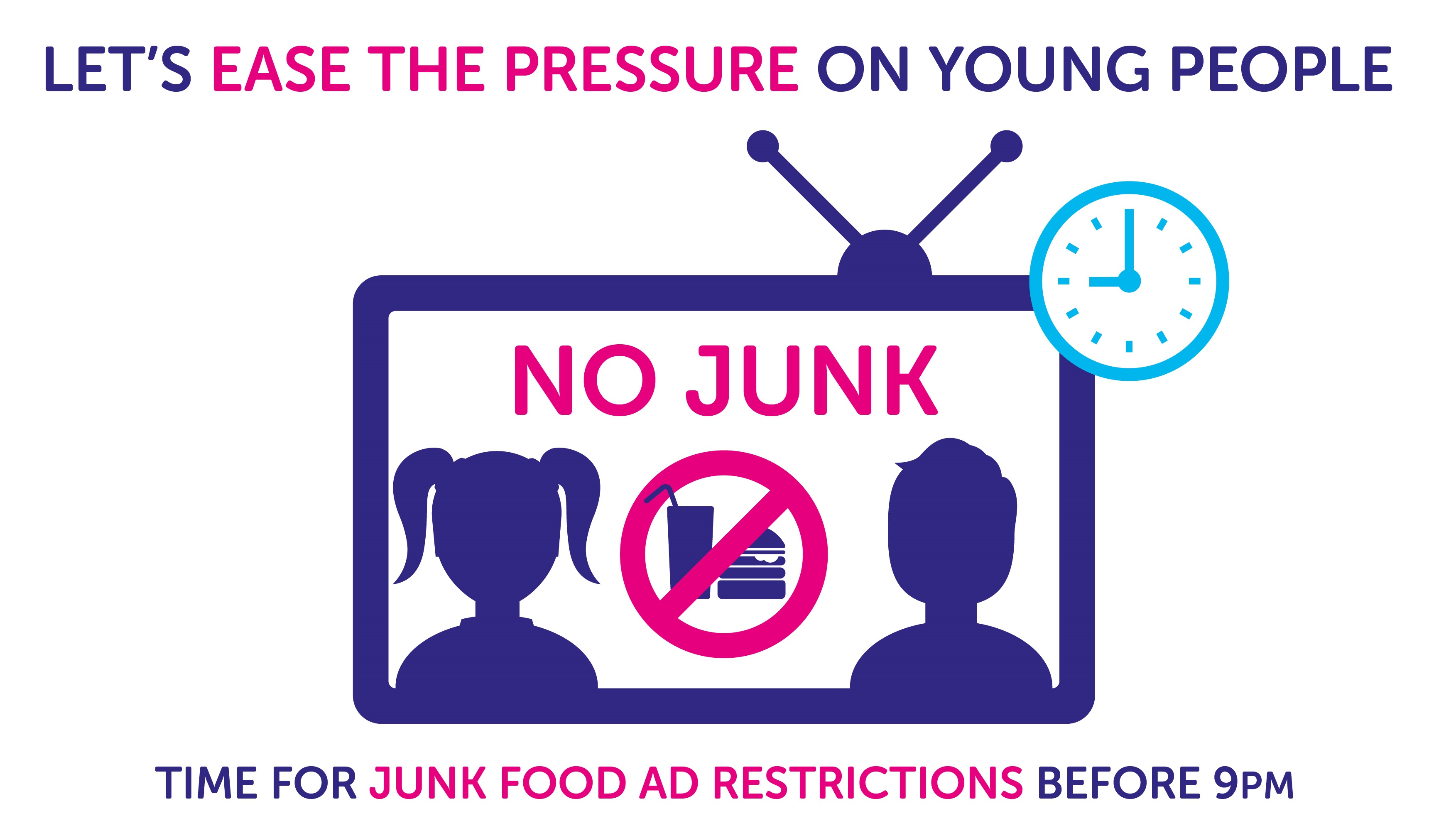 "An infographic showing how junk food tv adverts result in children's ""pester power"""