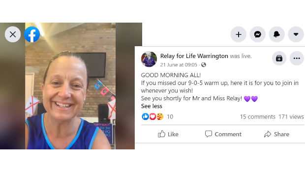 Relay for life Warrington livestream a workout