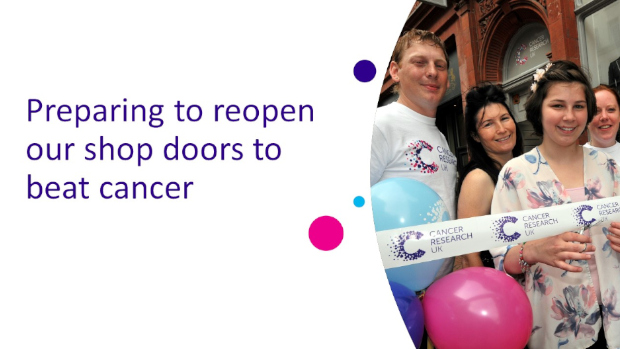 Preparing to reopen our shop doors to beat cancer