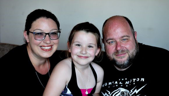 cervical cancer patient Sarah and her family
