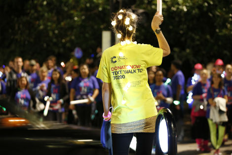 Shine Night Walk 2016 - Volunteer guiding participants