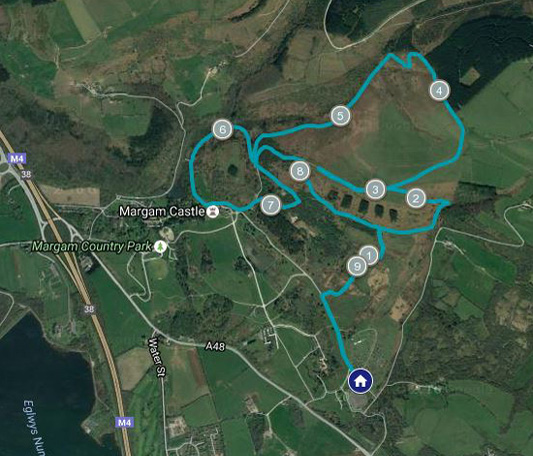 Course map for Tough 10 South Wales