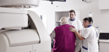 A man having radiotherapy
