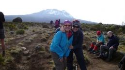 Lorraine climbing a mountain
