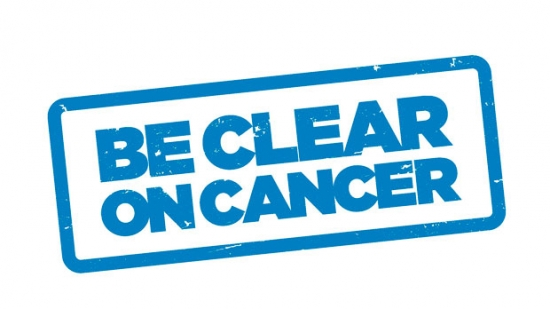 Be Clear on Cancer logo for know for sure campaign