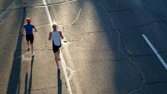 Running through Barcelona