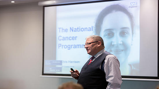 Image of a presentation at a cascade workshop