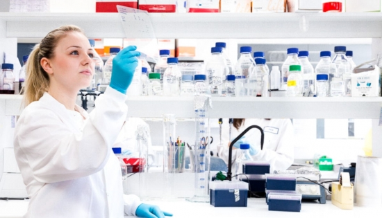 Young researcher in lab