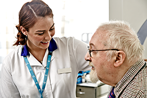 Image of nurse with patient