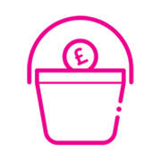 Collection bucket for fundraising