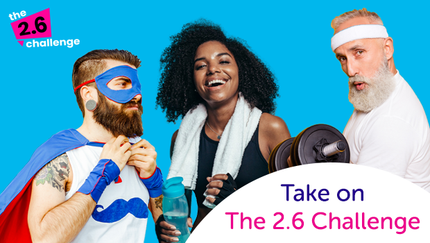 Take on 2.6 Challenge for Cancer Research UK.