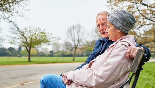 Patient and partner in park
