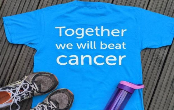 Challenge t-shirt with trainers and water bottle