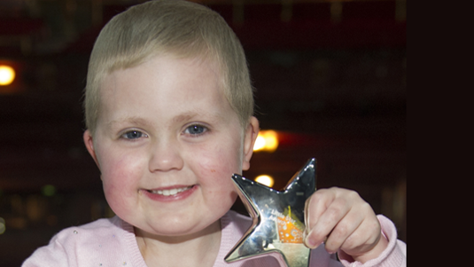 Agatha who received a Cancer Research UK for Children & Young People Star Award