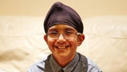 Amarvir who received a Cancer Research UK for Children & Young People Star Award