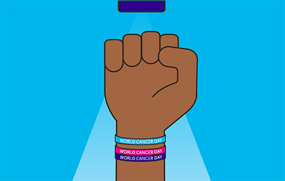 Supporter wearing a Unity Band