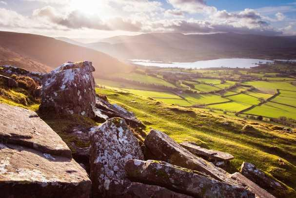 Mountain range across the Brecon Beacon