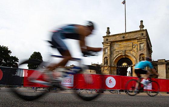 Blenheim Palace Triathlon Cyclist