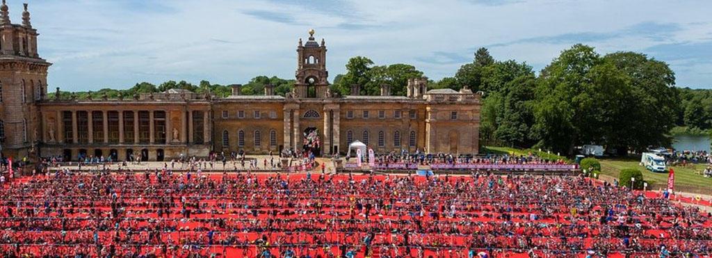 Blenheim Palace set up for the Blenheim Triathlon