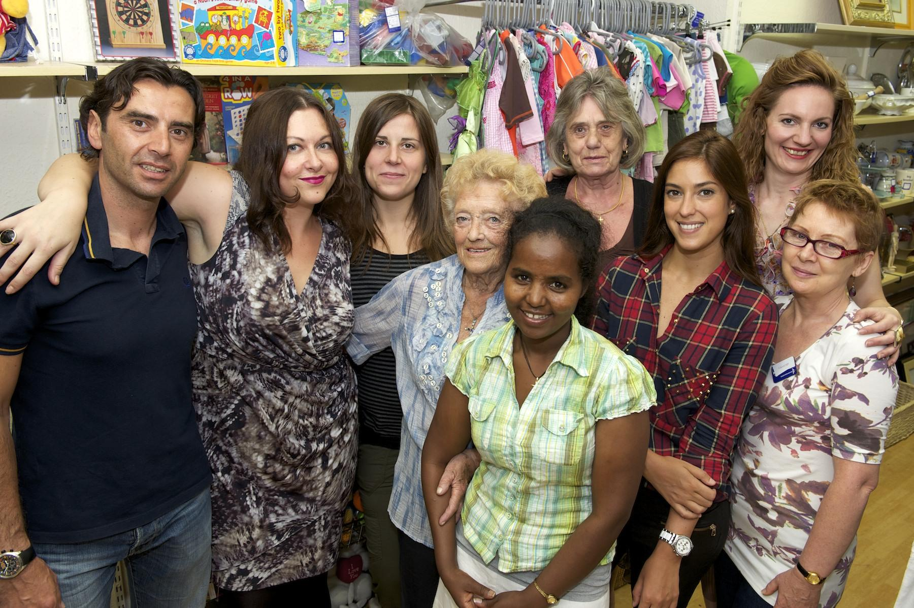 Volunteers at our shop in Chiswick, London