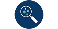 Challenge 2 early detection icon - a magnifying glass