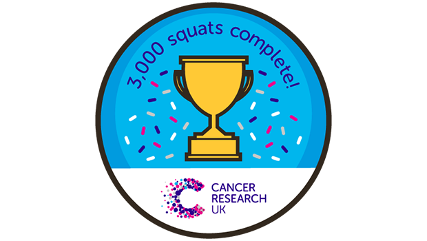 Completed squat challenge badge